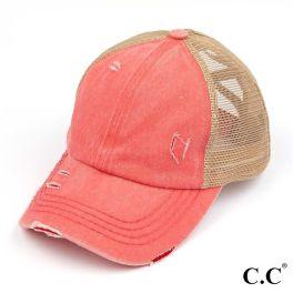 CC Pony Hat - Coral