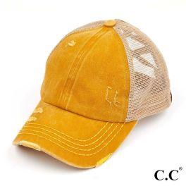 CC Pony Hat - Mustard