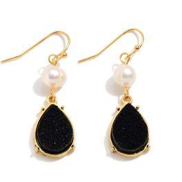 Falling In Love Earrings - Black