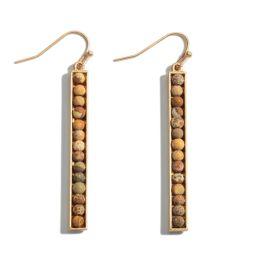 Set The Bar Earrings - Brown