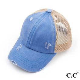 CC Pony Hat - Blue Mint/Beige