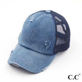 CC Pony Hat - Denim/Navy