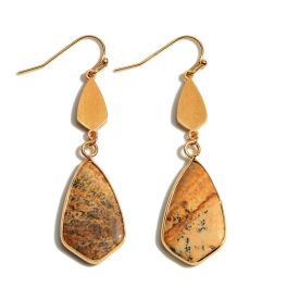 Story Of My Life Earrings - Picture Jasper