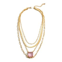 It's A Vibe Necklace - Pink