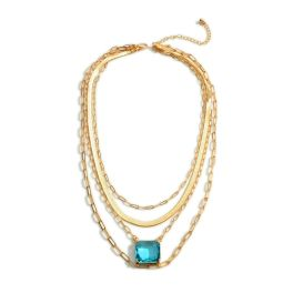 It's A Vibe Necklace - Turquoise