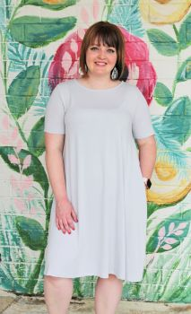 What I Like About You Dress In Plus - Grey Mist