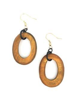 Dulari Earrings - Brown
