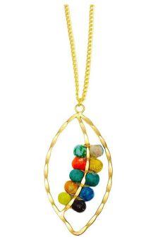 Anju Aasha Leaf Necklace - Multi
