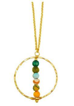 Anju Aasha Round Necklace - Multi