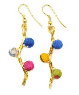 Aasha Earrings - Navy