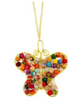 Anju Aasha Butterfly Necklace - Multi