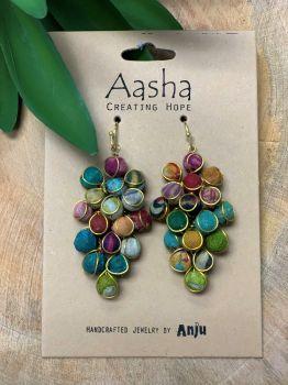 Anju Aasha Cluster Earrings - Multi