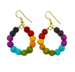 Aasha Earrings - Red