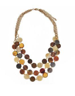 Taara Chandelier Necklace - Brown