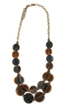 Omala Chandelier Necklace - Brown