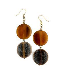 Gautami Earrings - Brown