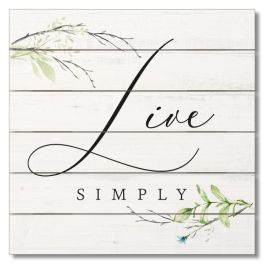"""Live Simply Pallet Sign - 12"""" x 12"""""""