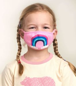 Toddler Face Mask - Pink Rainbow