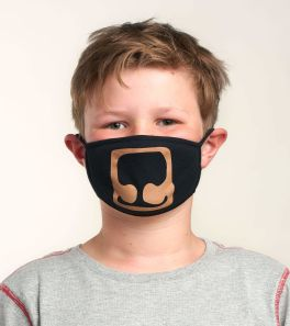 Kids Face Mask - Black Bear