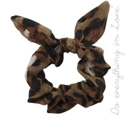 Leopard Sass Scrunchie - Brown