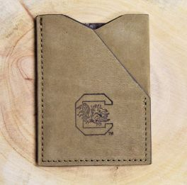 USC Brown Leather ID Wallet