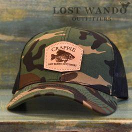 Crappie Hat - Camo & Black