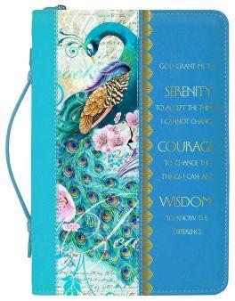 Peacock Print Bible Cover - Medium