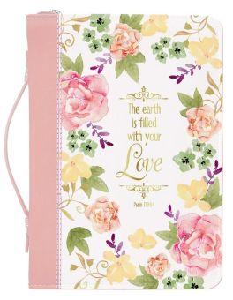 Watercolor Garden Bible Cover - Medium