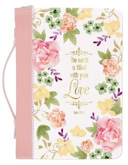 Watercolor Garden Bible Cover - Large