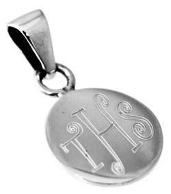 Sterling Silver Round Engravable Pendant