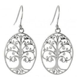 Southern Gates Oval Oak Tree Earrings