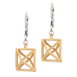 Frederic Duclos Sterling Silver Louvre Earrings