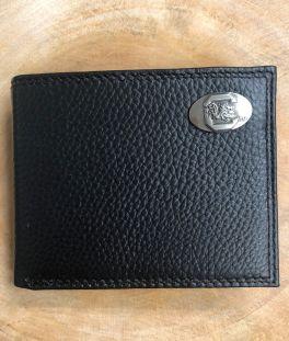 USC Black Bifold Pebble Wallet