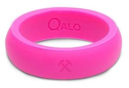 Women's Pink Silicone Qalo Band