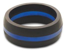 Men's Thin Blue Line Silicone Qalo Band