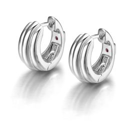 Elle Sterling Silver Huggie Earrings