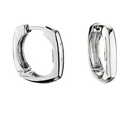 Elle Sterling Silver Huggie Hoop Earrings