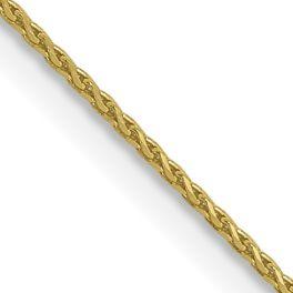 "10K Yellow Gold .65mm Diamond-Cut Wheat Chain - 20"""