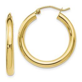 10K Yellow Gold 26mm Hinged Hoop Earrings