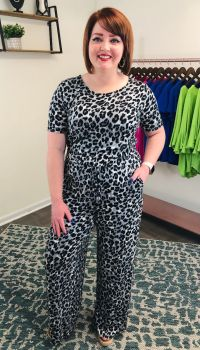 Where The Wild Things Are Jumpsuit - Grey Leopard