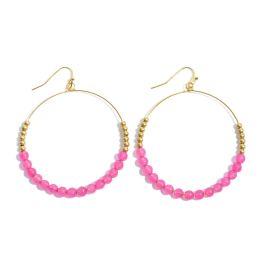 Endlessly Devoted Earrings - Fuchsia