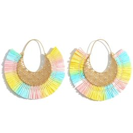 Showing Out Earrings - Mint/Yellow/Pink