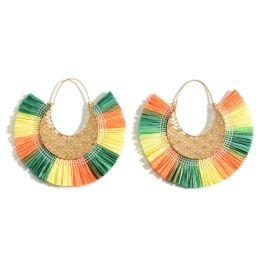Showing Out Earrings - Orange/Green/Yellow