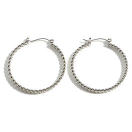Large Chain Reaction Earrings - Silver