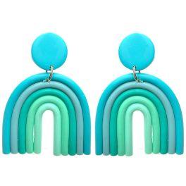 Over The Rainbow Earrings - Blue