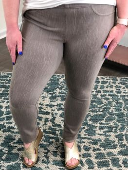 Playing For Keeps Jeggings - Taupe