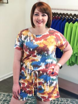 To Dye For Romper - Rainbow