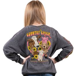Simply Southern Chick Long Sleeve T-Shirt - YOUTH