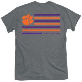 Clemson Simple Flag T-Shirt