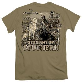 Straight Up Southern Three Dogs Together T-Shirt